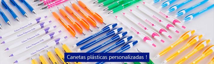 canetas promocionais plásticas personalizadas