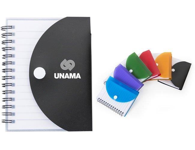 Bloco de anotação plástico personalizado