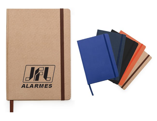 Caderneta tipo Moleskine promocional personalizado