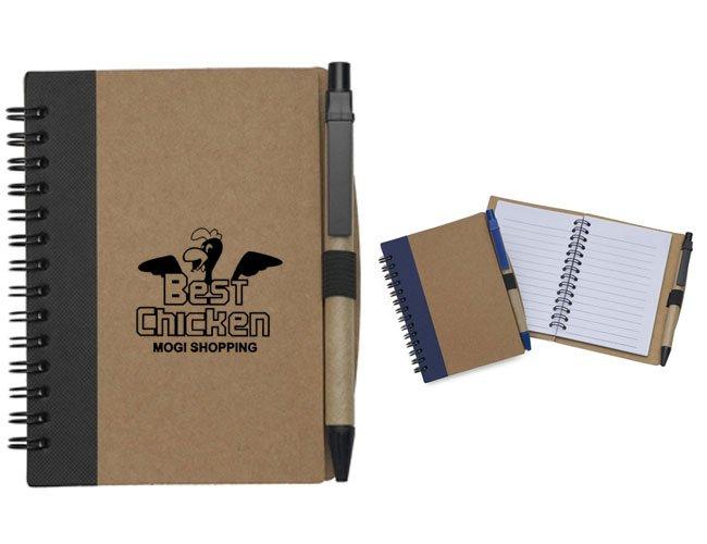Bloco de anotação ecológico com caneta personalizado