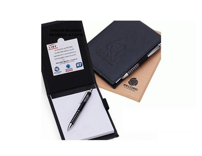 Bloco de anotações em couro personalizado - fs01