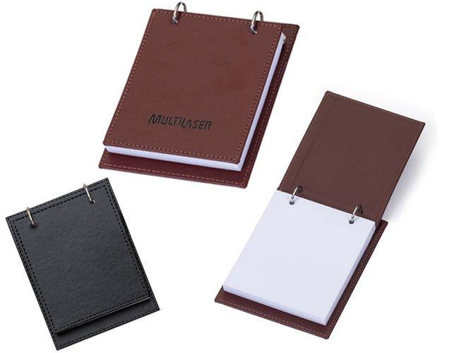 Bloco de anotações em couro personalizado - fs03