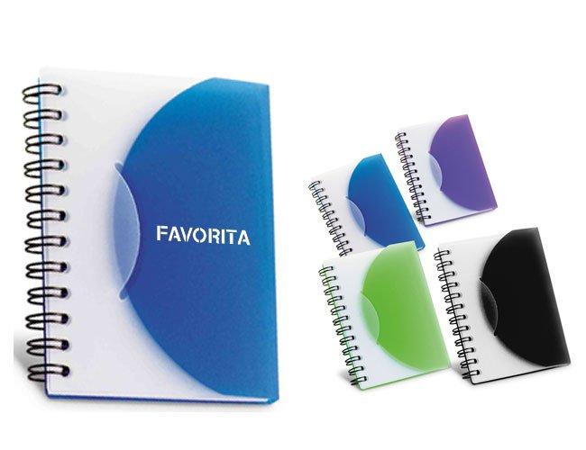 Bloco de anotação plástico promocional personalizado