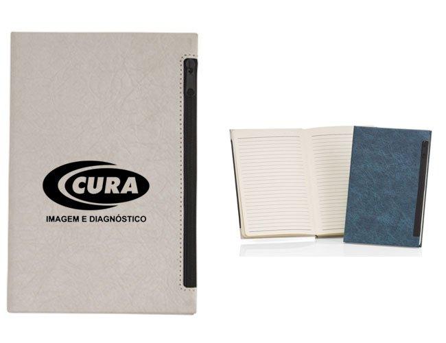 Caderno com bolso promocional personalizado