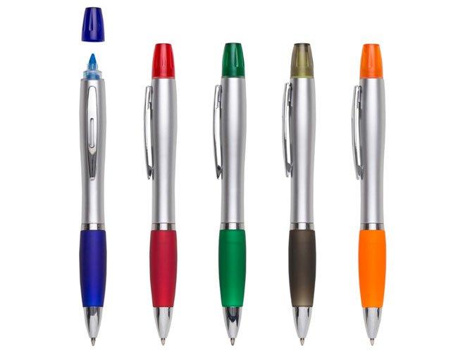 caneta marca texto plastica promocional personalizada - mt20