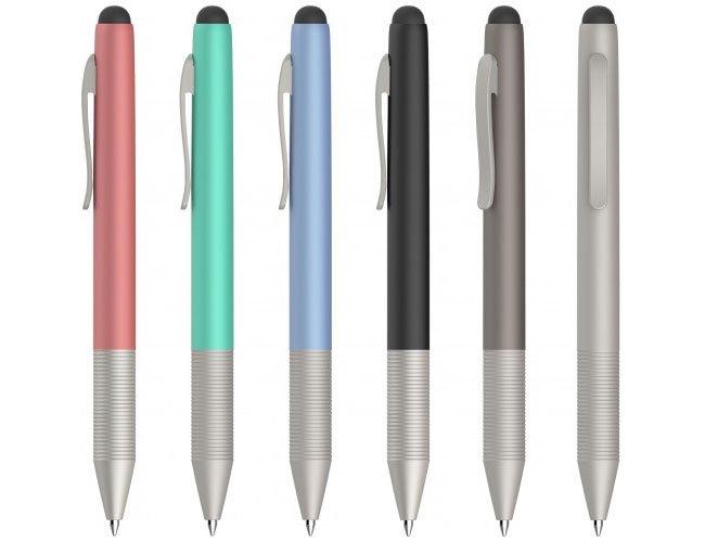 Caneta metal ponteira touch para tablet celular promocional personalizada ct19