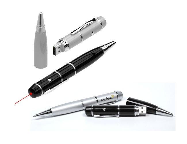Caneta Pen Drive com Laser Point Personalizado - pn13