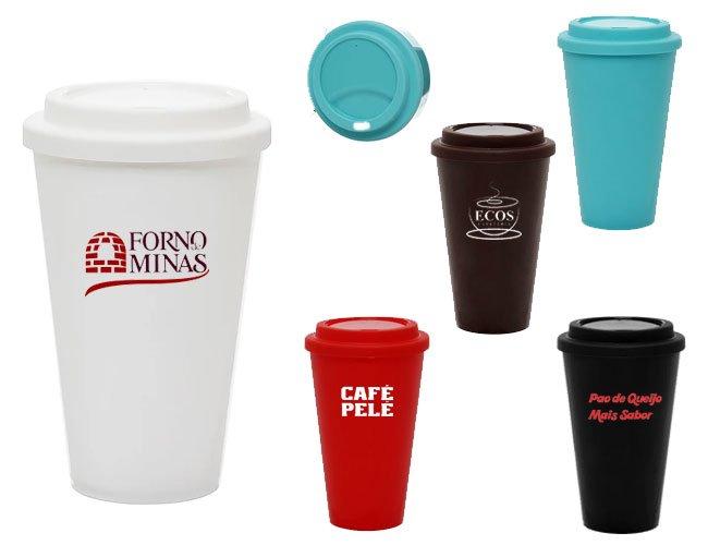 Copo plástico de café para viajem modelo Starbucks promocional personalizado - ca12