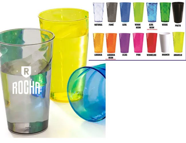 Copo plástico promocional personalizado 550 ml - ca33