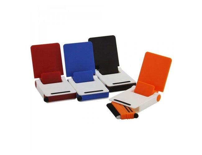 Base para smartphone com ponta touch e limpador de tela - ct16