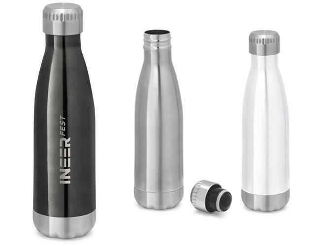 Garrafa Squeeze Metal Inox Alumínio Personalizada Promocional