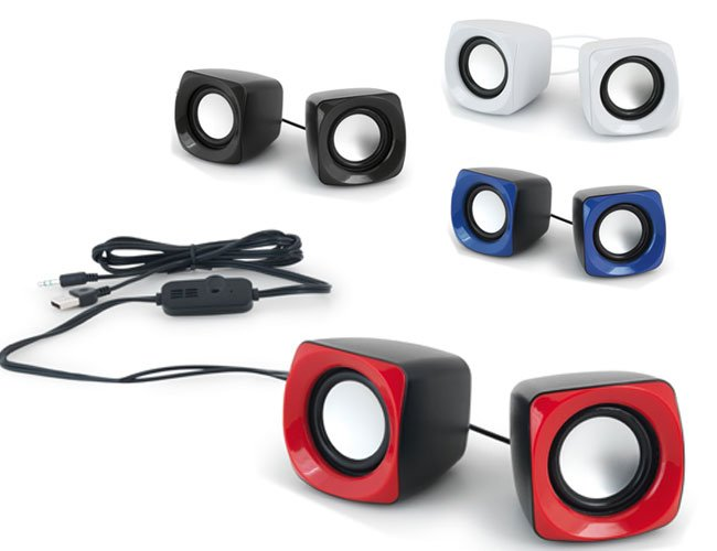 Mini caixa de som promocional personalizada para eventos