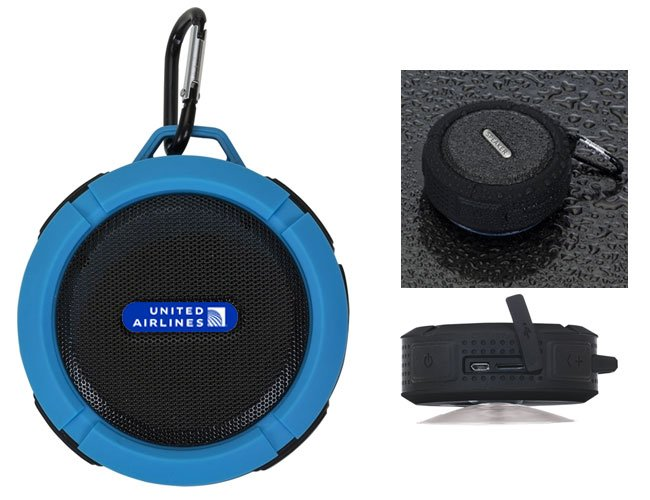 Mini caixa de som à prova dágua com Bluetooth promocional personalizada