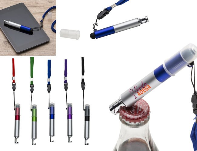 Mini caneta multifunções promocional personalizada para eventos - c62