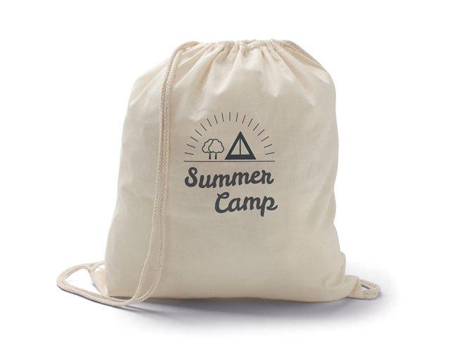 Sacola tipo mochila ecológica promocional personalizada - my01