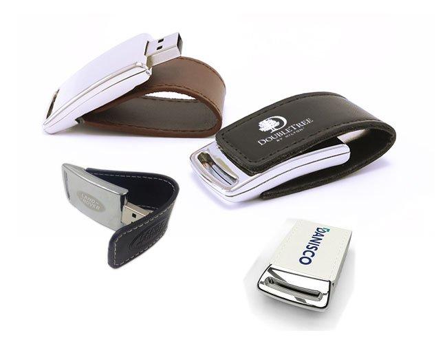 Pen Drive em Couro Personalizado 4GB - pn04