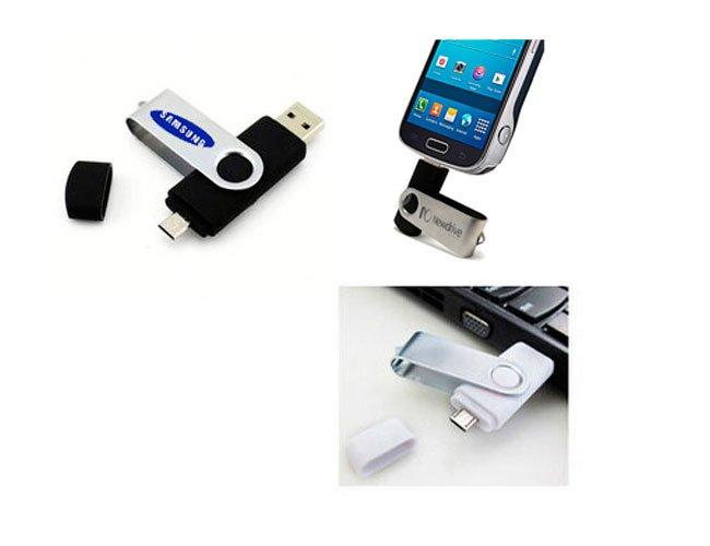 Pen drive com entrada para celular Personalizado - pn06