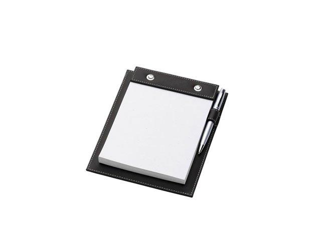 Porta Bloco de anotações em couro Personalizado - pgb94