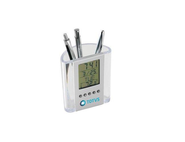 Porta canetas com relógio Personalizado - pl02