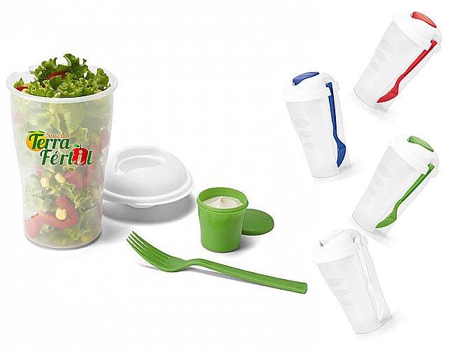 Copo para Salada com Garfo Personalizado - ps01