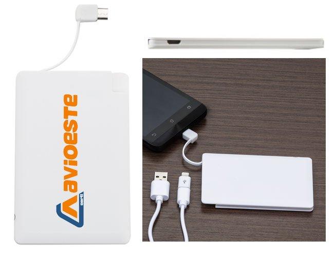 Cartão Power Bank Carregador de celular promocional personalizado - pw07