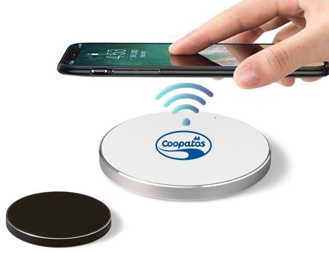 Carregador de celular wireless fast sem fio promocional personalizado
