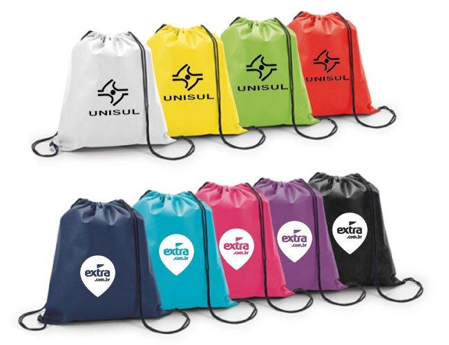 sacola tipo mochila saco em tnt promocional personalizada - my03