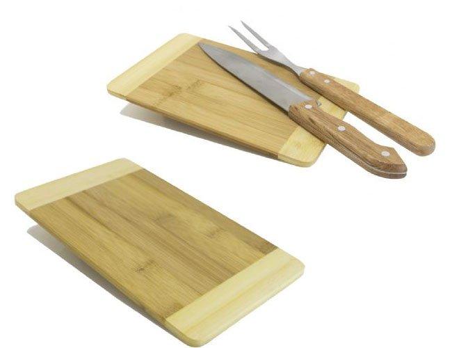 Tábua de corte para churrasco de bambú personalizada - tb59