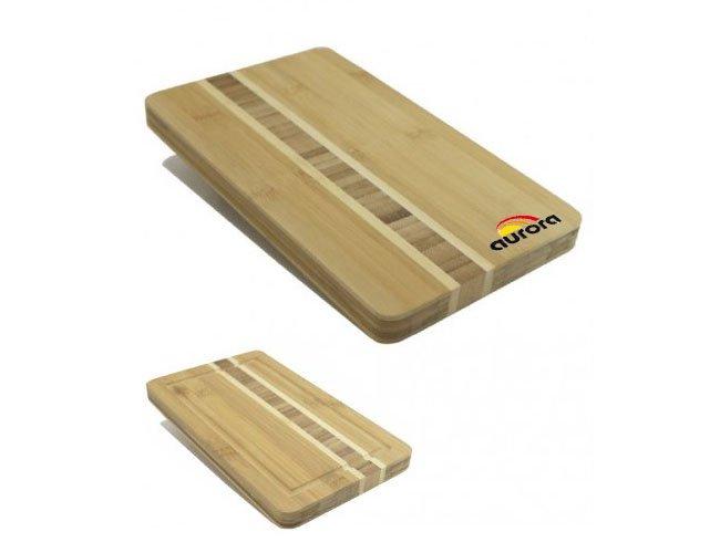 Tábua de corte para churrasco de bambú personalizada - tb57