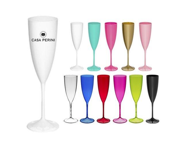 Taça champanhe em acrílico  promocional personalizada para eventos - ca54