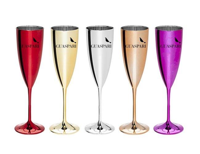 Taça champanhe em acrílico  promocional personalizada para eventos - ca56